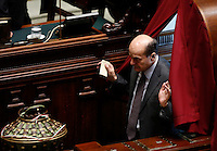 Il deputato Pierluigi Bersani vota durante la seduta comune di deputati e senatori per l'elezione del nuovo Presidente della Repubblica, alla Camera dei Deputati, Roma, 30 gennaio 2015.<br /> Italian deputy Pierluigi Bersani votes during a joint plenary session of senators and deputies to vote for the election of the new President, at the Lower Chamber, Rome, 30 January 2015.<br /> UPDATE IMAGES PRESS/Riccardo De Luca