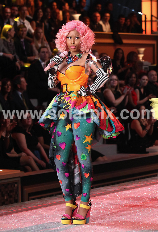 **ALL ROUND PICTURES FROM SOLARPIX.COM**                                             **SYNDICATION RIGHTS FOR UK, AUSTRALIA, DENMARK, PORTUGAL, S. AFRICA, SPAIN & DUBAI (U.A.E) & ASIA (EXCLUDING JAPAN) ONLY**                                                                                  Caption: 2011 Victoria's Secret Fashion Show  Runway and Performance at Lexington Avenue Armory in New York City, NY, USA                                                                               This pic:  Nicki Minaj                                                                                            JOB REF:14174        PHZ/Mayer       DATE:09.11.2011                                                            **MUST CREDIT SOLARPIX.COM OR DOUBLE FEE WILL BE CHARGED**                                                                      **MUST AGREE FEE BEFORE ONLINE USAGE**                               **CALL US ON: +34 952 811 768 or LOW RATE FROM UK 0844 617 7637**