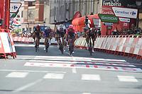 3rd September 2021; Tapia to Monforde de Lemos, Asturias, Spain; stage 19 of Vuelta a Espanya cycling tour;  Ef Education - Nippo 2021, Trek - Segafredo 2021, Uae - Emirates Nielsen Magnus, Cort Simmons, Quinn Oliveira, Rui Monforte De Lemos