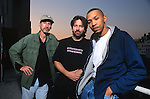 Various portraits & live photographs of the rock band, Kings X.  Dug Pinnick, bass, Ty Tabor, guitar & Jerry Gaskill, drums.