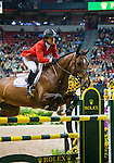 17 April 2009: Beezie Madden (USA) and Danny Boy at the Rolex World Cup Jumping Final II jump-offs.