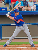 5 March 2015: New York Mets catcher Anthony Recker at bat against the Washington Nationals at Space Coast Stadium in Viera, Florida. The Mets fell to the Nationals after a late inning rally, dropping a 5-4 Grapefruit League game. Mandatory Credit: Ed Wolfstein Photo *** RAW (NEF) Image File Available ***