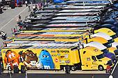 #18: Kyle Busch, Joe Gibbs Racing, Toyota Camry M&M's M&M's Red Nose Day hauler