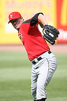 June 12th 2008:  Pitcher Matt Miller of the Indianapolis Indians, Class-AAA affiliate of the Pittsburgh Pirates, during a game at Fifth Third Field in Toledo, OH.  Photo by:  Mike Janes/Four Seam Images