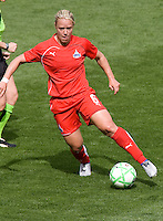 Washington Freedom's Lori Lindsey. The LA Sol defeated the Washington Freedom 2-0 in the opening game of Womens Professional Soccer at Home Depot Center stadium on Sunday March 29, 2009.  .Photo by Michael Janosz