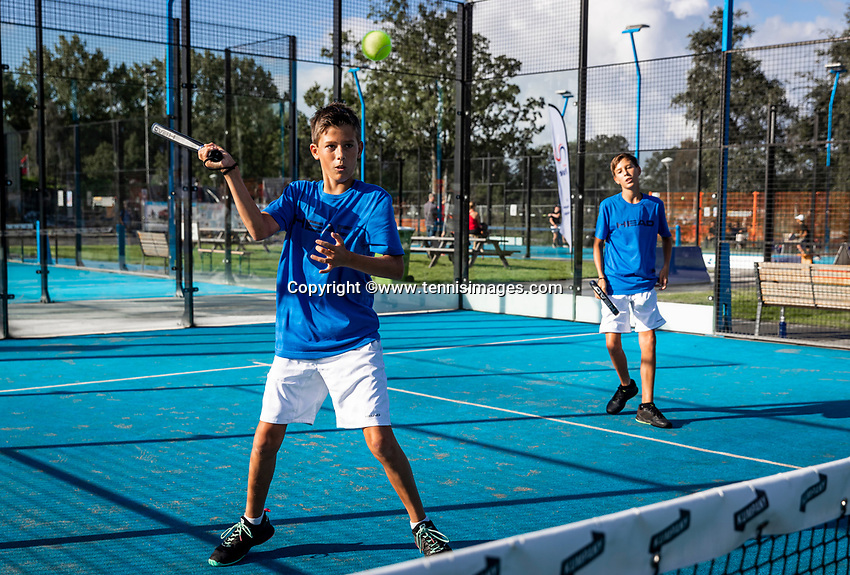 Netherlands, September 5,  2020, Amsterdam, Padel Dam, NK Padel, National Junior Padel Championships, Kai Groen (NED) and Mats Groen (NED)<br /> Photo: Henk Koster/tennisimages.com