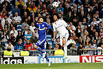 Real Madrid´s Marcelo and Schakle 04 Uchida during Champions League soccer match at Santiago Bernabeu stadium in Madrid, Spain. March, 10, 2015. (ALTERPHOTOS/Caro Marin)