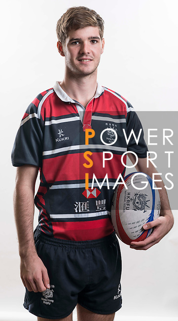 Hong Kong Junior Squad team member Liam Owens poses during the Official Photo Session Day at King's Park Sports Ground ahead the Junior World Rugby Tournament on 25 March 2014. Photo by Andy Jones / Power Sport Images