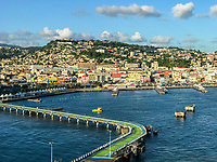 Fort-de-France, Martinique.  View from the Cruise Ship Pier, Early Morning.