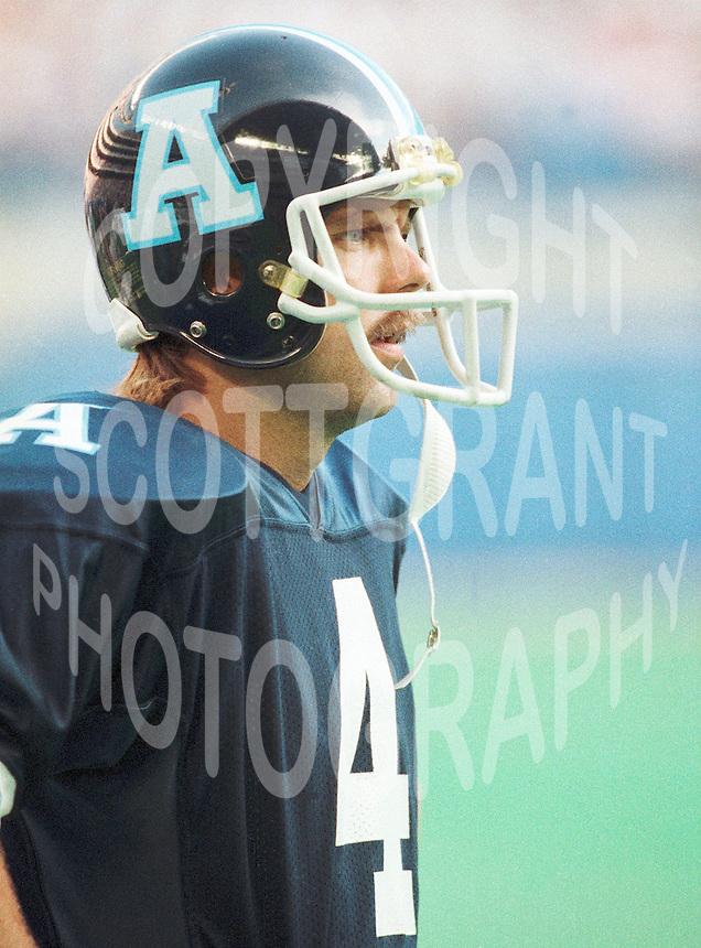Lance Chomyc Toronto Argonauts kicker. Copyright photograph Scott Grant
