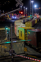 First container rail shunt into CentrePort since damage from 2016 Seddon earthquakes. Wellington, New Zealand on Monday, 8 March 2021. Photo: Dave Lintott / lintottphoto.co.nz