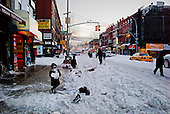 Brooklyn, New York<br /> December 27, 2010<br /> <br /> Snow blizzard on the East Coast. A scene down 5th Avenue and 11 Street.