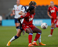 Danielle Carter of Reading and Shelina Zadorsky of Tottenham battle for the ball during Tottenham Hotspur Women vs Reading FC Women, Barclays FA Women's Super League Football at the Hive Stadium on 7th November 2020