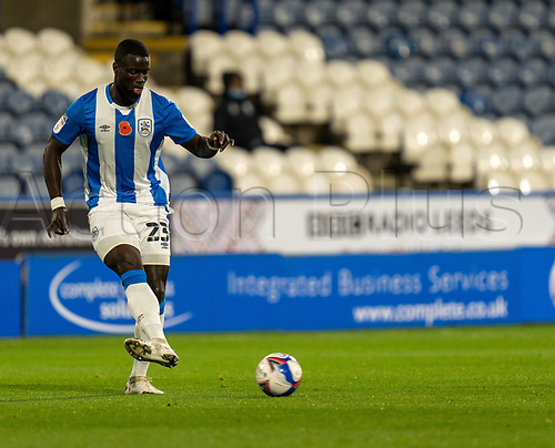3rd November 2020, The John Smiths Stadium, Huddersfield, Yorkshire, England; English Football League Championship Football, Huddersfield Town versus Bristol City; Mouhamadou-Naby Sarr of Huddersfield Town on the ball