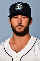 Asheville Tourists pitcher Colton Hathcock (33) poses for a photo at Story Point Media on April 3, 2017 in Asheville, North Carolina. (Tony Farlow/Four Seam Images)