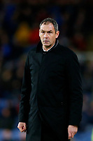 Swansea City manager Paul Clement looks on during the Premier League match between Burnley and Swansea City at Turf Moor, Burnley, England, UK. Saturday 18 November 2017
