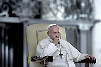 Pope Francis during of a weekly general audience at St Peter's square in Vatican, Wednesday.june 5, 2019