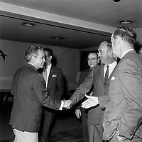 Sujet : Politique - Jean-Jacques Bertrand<br /> Date: Entre le 14 et le 20 juillet 1969<br /> <br /> <br /> Photo : Photo Moderne - © Agence Quebec Presse