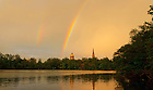 May 31, 2013; Dome and Basilica with a rainbow.<br /> <br /> Photo by Matt Cashore/University of Notre Dame