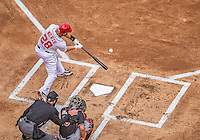 1 April 2013: Washington Nationals outfielder Jayson Werth in action against the visiting Miami Marlins on Opening Day at Nationals Park in Washington, DC. The Nationals shut out the Marlins 2-0 to launch the 2013 season. Mandatory Credit: Ed Wolfstein Photo *** RAW (NEF) Image File Available ***