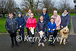 Enjoying a stroll in the Tralee town park on Saturday. Front l to r: Jack Donovan, Matthew and Emma O'Connor, Shauna and Adam Donovan. Back l to r: Ann Donovan, Michael O'Donoghue, Mary Hussey and Sarah O'Connor with Milo the dog.