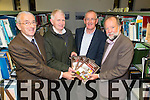 Jim O'Shea, Michael McNamara, Michael O'Connor, Dick Carmody at the launch of this year's The Kerry Archaeological & Historical Society   'Kerry magazine' at the  Local History Department of Kerry Library, Tralee on Tuesday