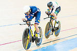 Thomas Denis of the France team and Kelland O'Brien of the Australia team compete in the Men's Individual Pursuit - Qualifying as part of the 2017 UCI Track Cycling World Championships on 14 April 2017, in Hong Kong Velodrome, Hong Kong, China. Photo by Marcio Rodrigo Machado / Power Sport Images