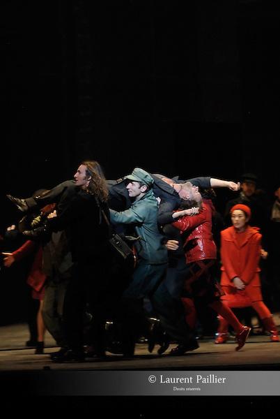 WELCOME TO THE VOICE - Steve Nieve..Théâtre du Chatelet - Paris..15 november 2008....Dionysos - Sting..Dionysos's friend - Joe Sumner....Credit : Laurent PAILLIER / ArenaPAL