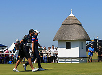 18th July 2021; Royal St Georges Golf Club, Sandwich, Kent, England; The Open Championship,  Golf, Day Four; Jordan Speith (USA) walks from the tee at the first hole