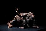 """TRANSE<br /> <br /> Avec le film de Jean Rouch """"Mammy Water"""" (1956)<br /> Conception et danse : Danielle Gabou<br /> Coordination : Jean Yves Camus<br /> Chorégraphie : Julien Ficely<br /> Musique : Marco Marini<br /> Vidéo, lumières : Olivier Bauer<br /> Costumes : Rachel Brayer<br /> Lieu : Théâtre de Chaillot<br /> Ville : Paris<br /> Date : 02/11/2013<br /> © Laurent Paillier / photosdedanse.com"""
