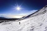 Ski ascent of Mount Etna, Sicily, march 2008.