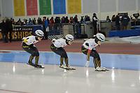 SPEEDSKATING: 14-02-2020, Utah Olympic Oval, ISU World Single Distances Speed Skating Championship, Team Pursuit Ladies, Team Japan (JPN), World Record 2:50.766, ©Martin de Jong
