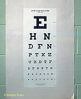 SN07-001z  Eye chart as seen by someone with normal vision - see SN07-002z