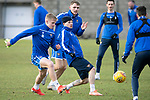 St Johnstone Training…….24.01.20<br />Matty Kennedy pictured in training this morning at McDiarmid Park with Ali McCann and Jason Kerr ahead of tomorrow's game against Kilmarnock.<br />Picture by Graeme Hart.<br />Copyright Perthshire Picture Agency<br />Tel: 01738 623350  Mobile: 07990 594431