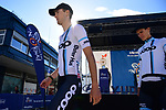 Coop team at sign on before the start of Stage 3 of the 2018 Artic Race of Norway, running 194km from Honningsvg to Hammerfest, Norway. 18th August 2018. <br /> <br /> Picture: ASO/Pauline Ballet | Cyclefile<br /> All photos usage must carry mandatory copyright credit (© Cyclefile | ASO/Pauline Ballet)