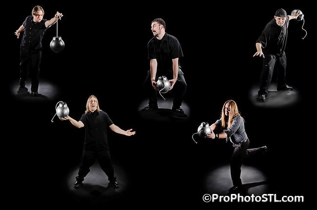 """I have a Bomb"" band promo pics"