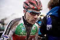 Simon Zahner (SUI) post-race<br /> <br /> Elite Men's race<br /> <br /> 2015 UCI World Championships Cyclocross <br /> Tabor, Czech Republic