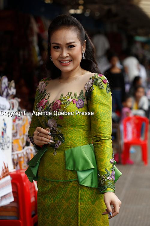 La celebre chanteuse pop cambodgienne  Lay Leakhena, Mai 2019, Phnom Pench, CAMBODGE<br /> <br /> PHOTO EXCLUSIVE :  Agence Quebec Presse