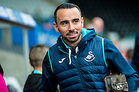 Leon Britton of Swansea City arrives ahead of the English Premier League game between Arsenal and Swansea at the Liberty Stadium in Swansea ,Wales, UK. Saturday 14 January 2017