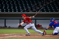 AZL Angels first baseman Dylan Woods (88) follows through on his swing against the AZL Cubs on August 31, 2017 at Sloan Park in Mesa, Arizona. AZL Cubs defeated the AZL Angels 9-2. (Zachary Lucy/Four Seam Images)