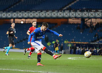 25.02.2021 Rangers v Royal Antwerp: Ianis Hagi with a stinging shot saved by the keeper