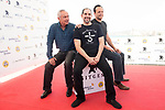 German actor Udo Kier, american director Steven Craig Zahler and american actor Vince Vaughn attends to photocall during the presentation of film 'Brawl in Cell Block 99' at Sitges Film Festival in Barcelona, Spain October 09, 2017. (ALTERPHOTOS/Borja B.Hojas)