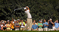 Tiger Woods tee's off during the 2007 Wachovia Championships at Quail Hollow Country Club in Charlotte, NC.