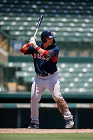 GCL Red Sox Dean Miller (52) bats during a Gulf Coast League game against the GCL Orioles on July 29, 2019 at Ed Smith Stadium in Sarasota, Florida.  GCL Red Sox defeated the GCL Pirates 9-1.  (Mike Janes/Four Seam Images)