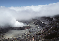 A STEAMING FUMEROLE of the still active POAS VOLCANO, which last erupted in 1978 - COSTA RICA