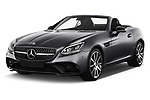 2017 Mercedes Benz SLC AMG 2 Door Convertible Angular Front stock photos of front three quarter view