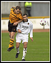 13/04/2002                 Copyright Pic : James Stewart .Ref :     .File Name : stewart-alloa v berwick 09.ALLOA'S JIMMY FISHERS GETS HIS HEAD TO THE BALL AHEAD OF MARTIN NEIL......James Stewart Photo Agency, 19 Carronlea Drive, Falkirk. FK2 8DN      Vat Reg No. 607 6932 25.Office     : +44 (0)1324 570906     .Mobile  : +44 (0)7721 416997.Fax         :  +44 (0)1324 570906.E-mail  :  jim@jspa.co.uk.If you require further information then contact Jim Stewart on any of the numbers above.........
