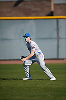 Paul Moore (8) of Stone Bridge High School in Ashburn, Virginia during the Baseball Factory All-America Pre-Season Tournament, powered by Under Armour, on January 13, 2018 at Sloan Park Complex in Mesa, Arizona.  (Mike Janes/Four Seam Images)