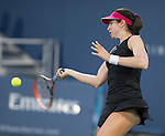 Christina McHale (USA) loses to Ana Ivanovic (SRB) 6-4, 6-0 at the Western & Southern Open in Mason, OH on August 13, 2014.