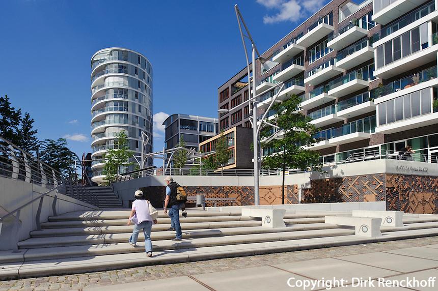 Vasco.da-Gama-Platz  in der Hafencity,  Hamburg, Deutschland